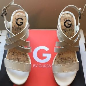 White G by Guess Wedges